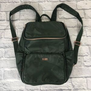 Aimee Kesterberg Nylon Backpack Green/Rose Gold
